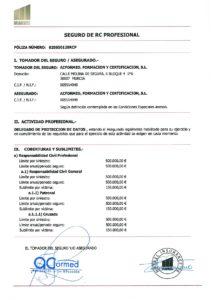 seguro rc para delegado de protección de datos